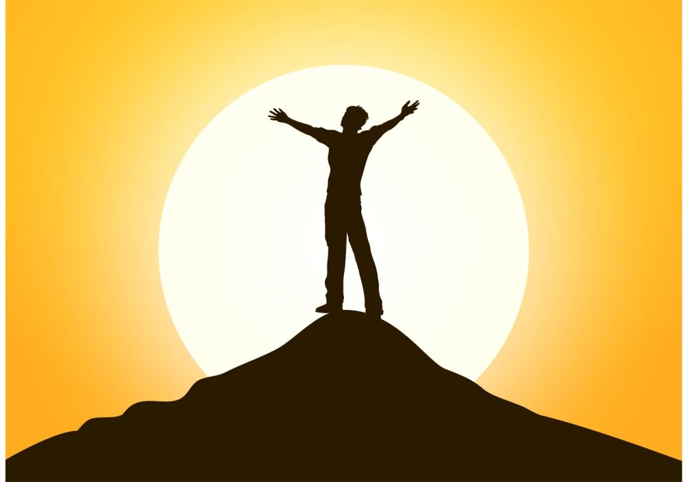 free-happy-man-standing-on-the-top-vector